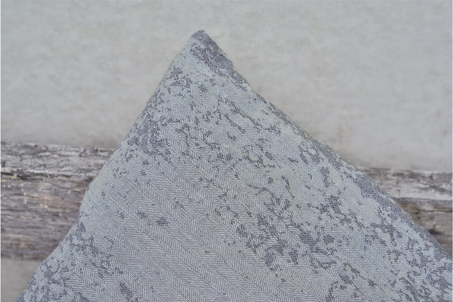 DAVID FUSSENEGGER Kissenhülle Como, Struktur, grau, 50x50 cm