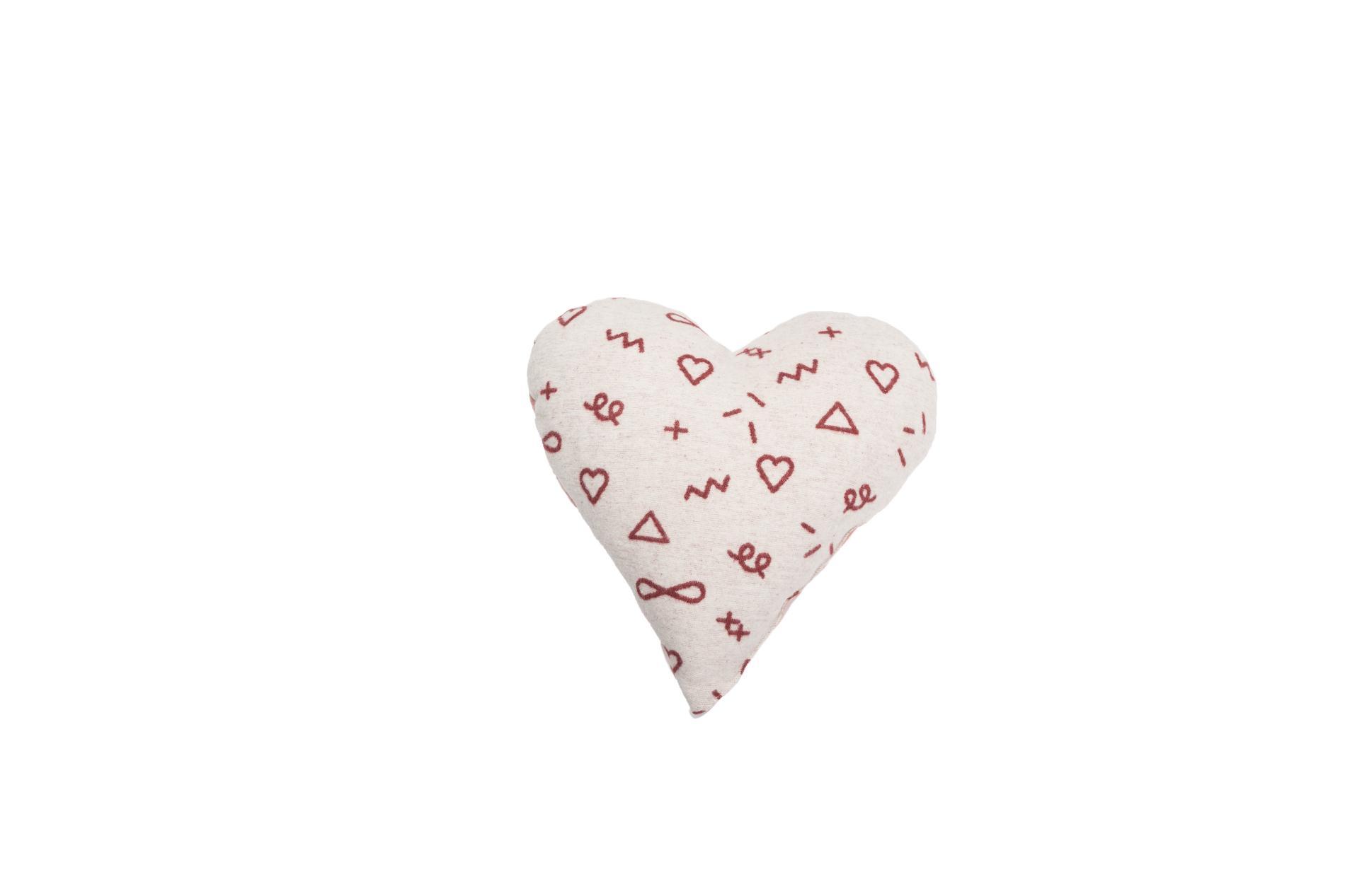 DAVID FUSSENEGGER Kissen, Herz, incl. Füllung, rouge rohweiß, 40x40 cm