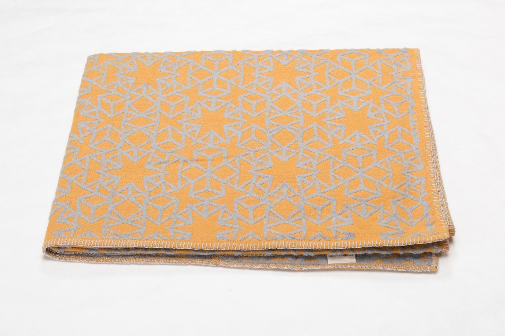 DAVID FUSSENEGGER Decke, Plaid Deco, Stern modern, goldgelb, 130x200 cm