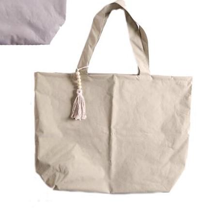 Strandtasche/Schoppingtasche XXL, Kunststoff in Textiloptik, Farbe Olivgrün, 40x65 cm