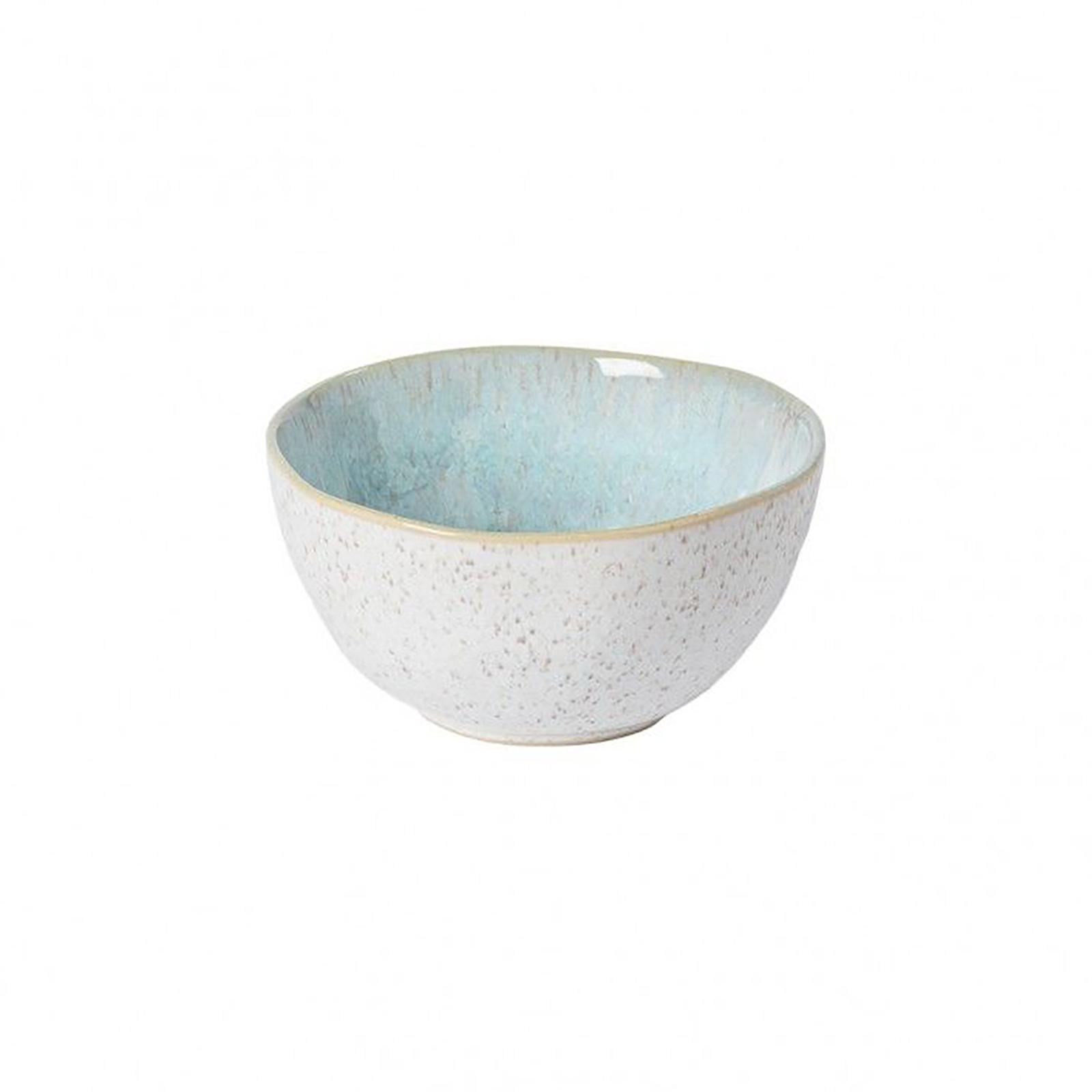 Casafina Eivissa kleine Schale, innen meerblau, außen beige, gesprenkelt, D 13cm, 0,35L