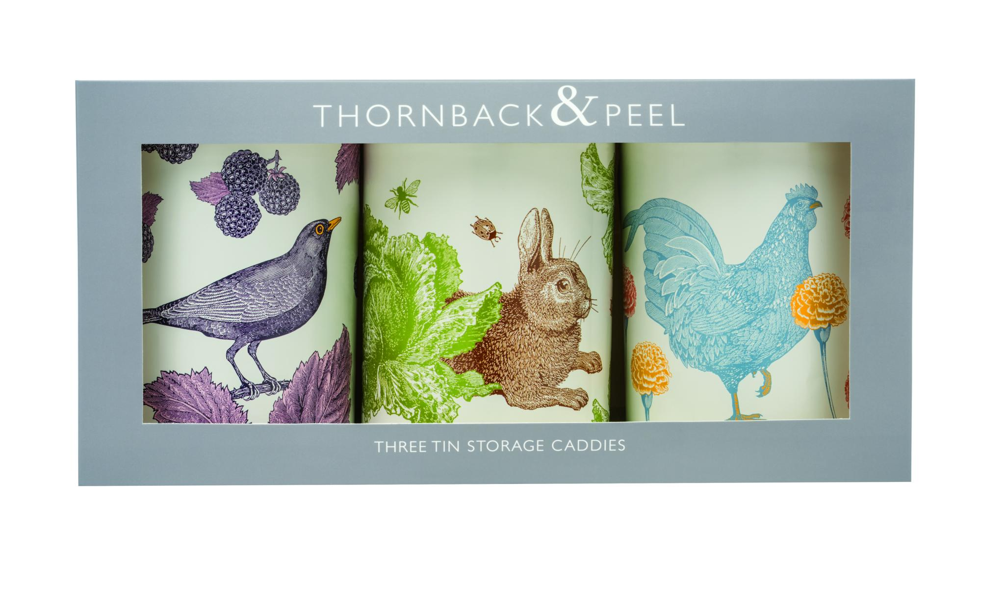Thornback & Peel Vorratsdosen 3er Set versch. sortierti, Rund, DM 10 cm