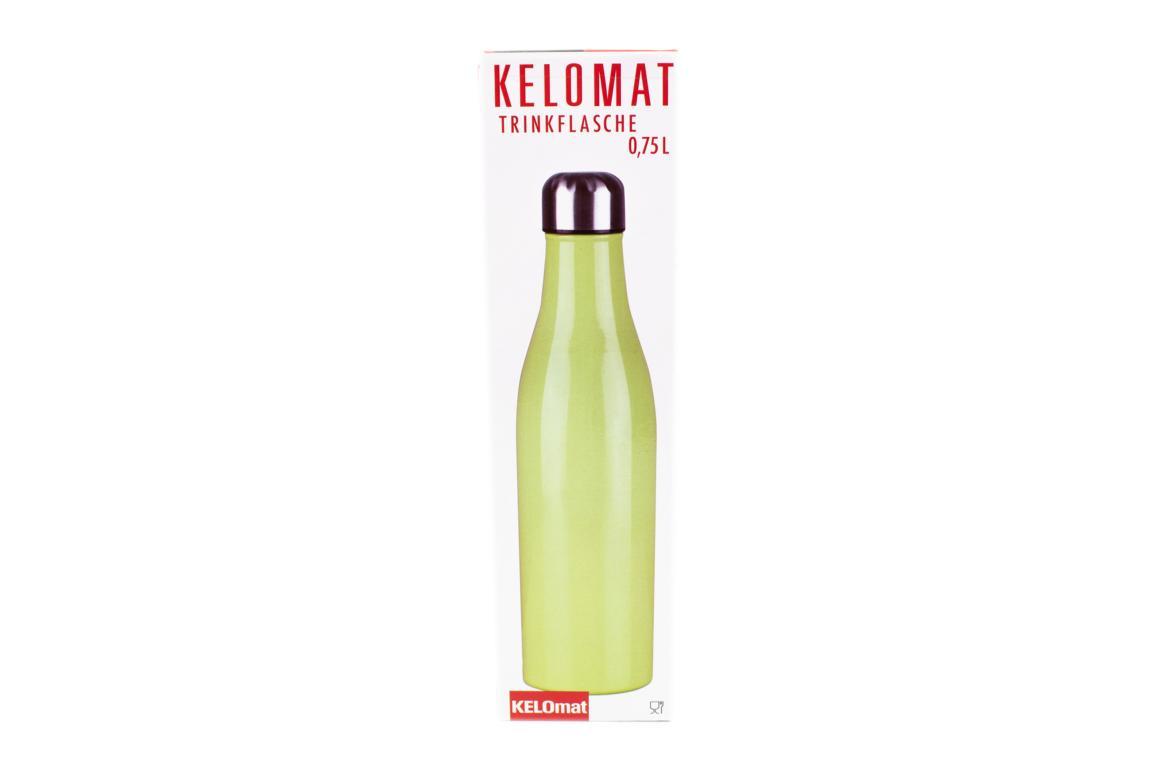 KELOmat Edelstahl Trinkflasche, Nilgrün, 0,75 Liter