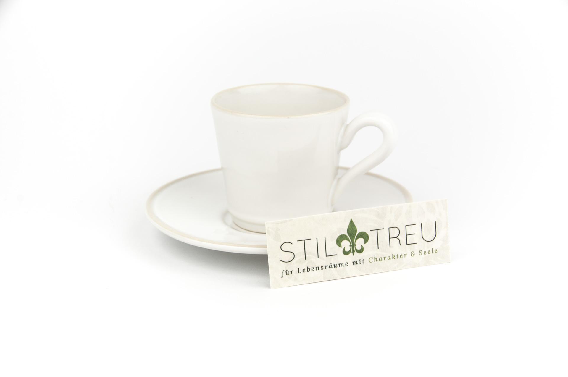 Gedeck / Espresso 2-teilig / Ober- + Untertasse Astoria, weiß, 0,08 l