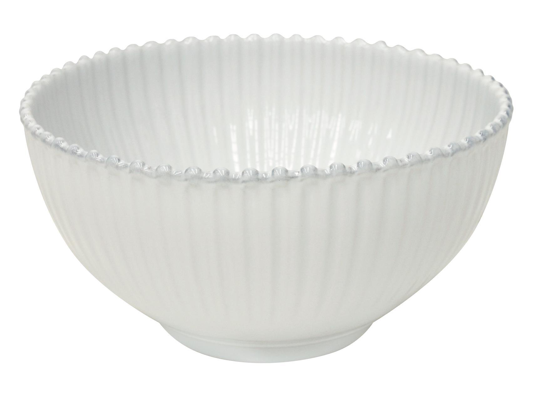 Salatschüssel Pearl weiß, 27 cm