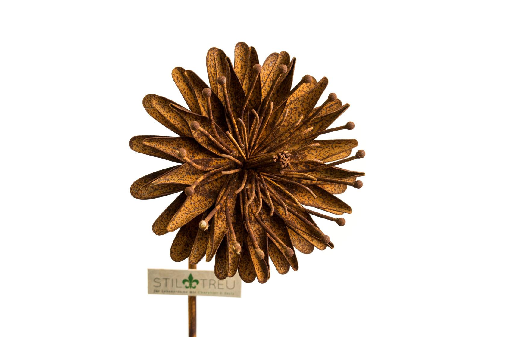 Aster, Gartenstecker, Edelrost, Ø 17 cm