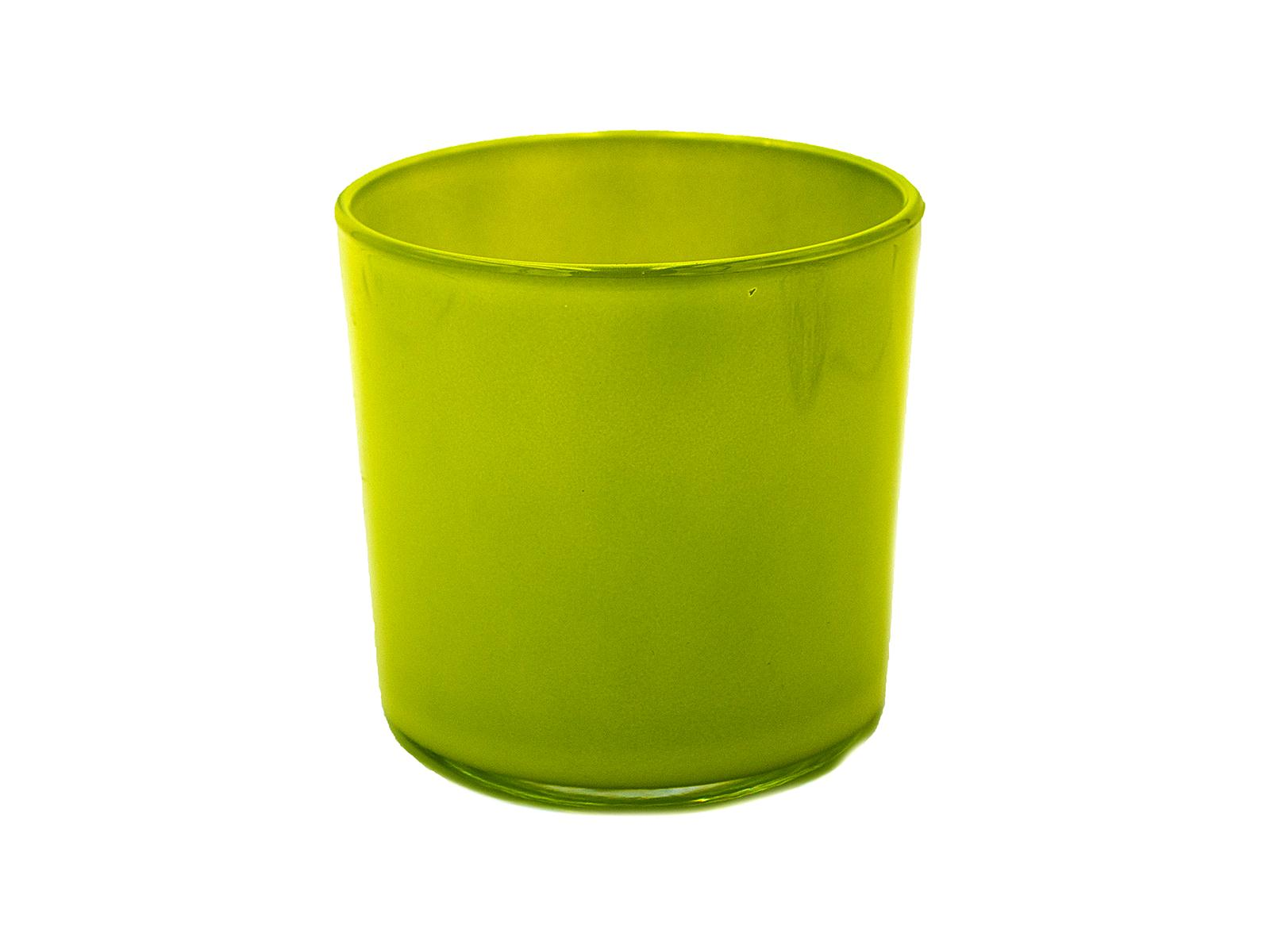 Blumentopf Davinci, Glas grün, H 13, D 13