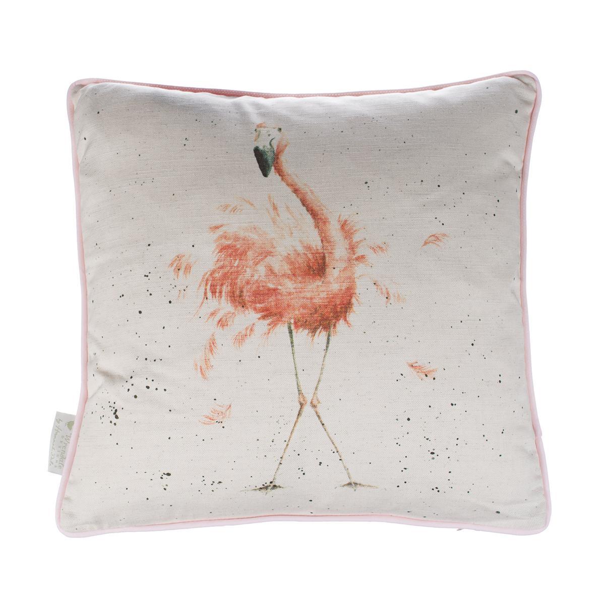 Wrendale Kissen inkl. Füllung, Motiv Flamingo, 40x40cm