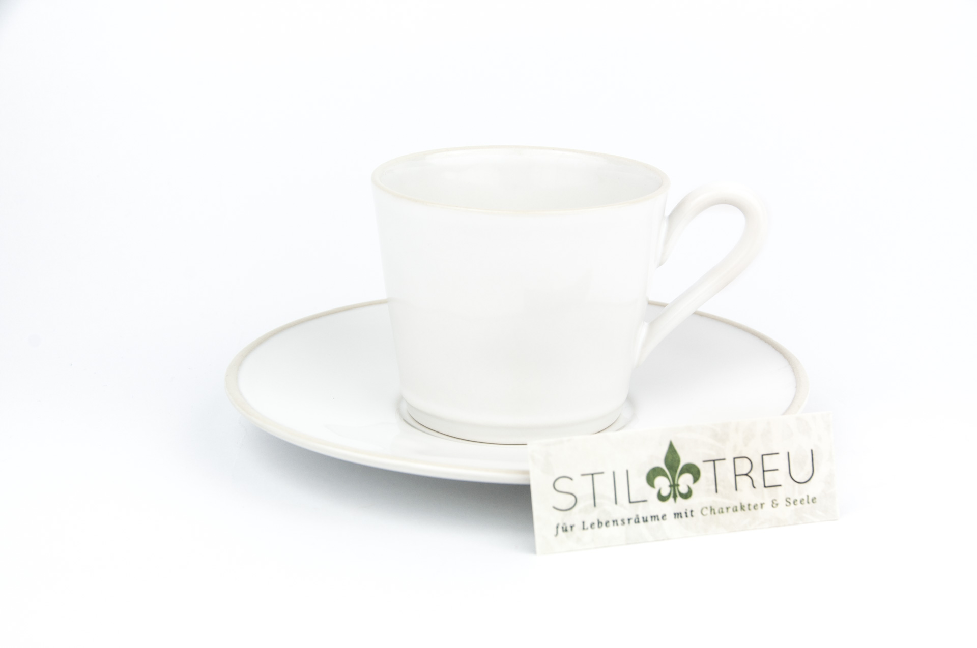 Gedeck / Kaffee / Tee 2-teilig / Ober- und Untertasse Astoria, weiß, 0,18 l