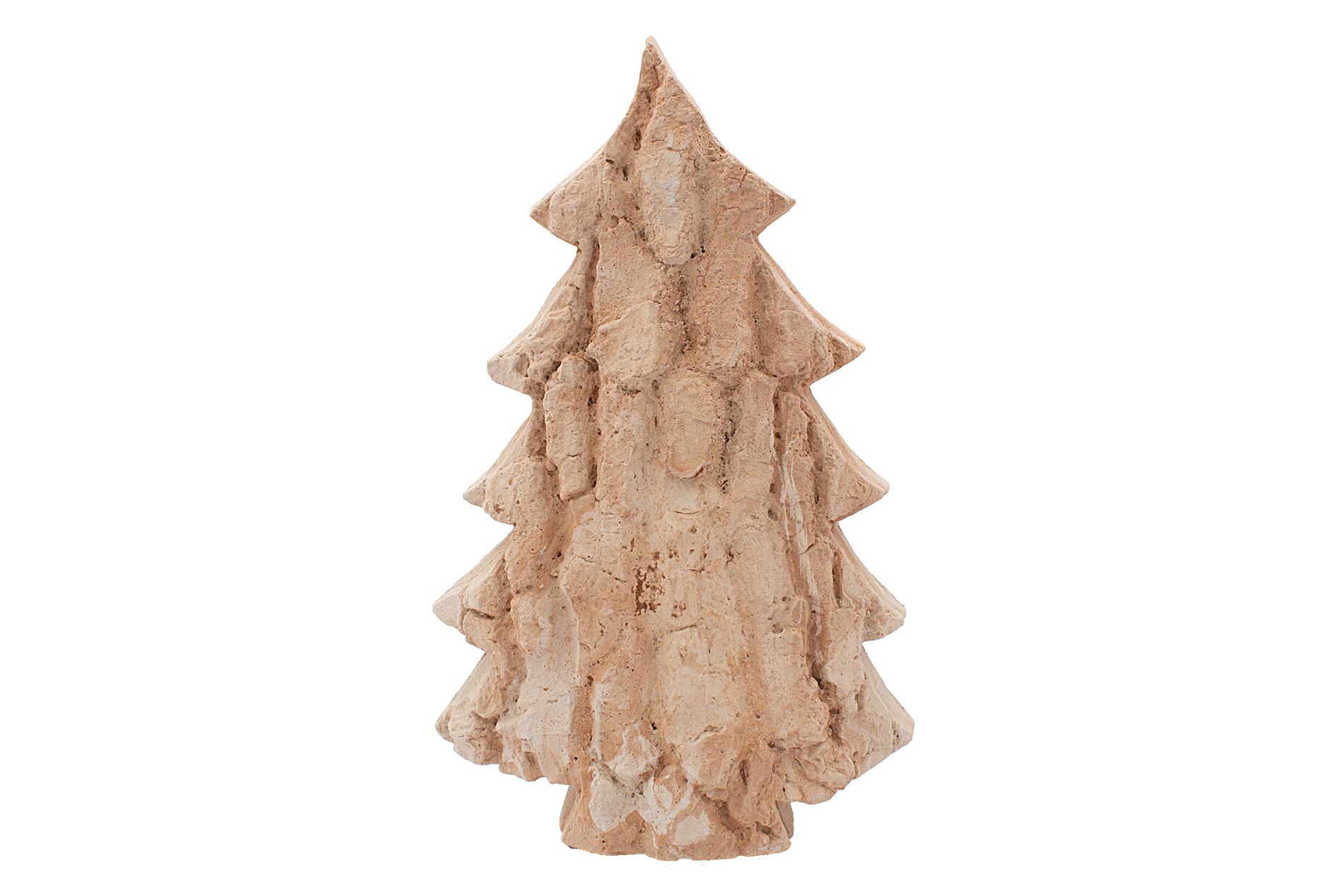 Weihnachtsbaum, Tanne, groß,  mit Rindenstruktur, Sandsteinguss,  35 x 24  x 7 cm