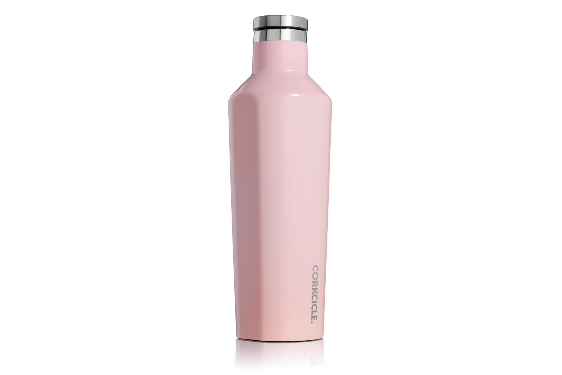 Corkcicle Trinkflasche / Thermo Isolierflasche Gloss Rose Quartz 475 ml Gloss