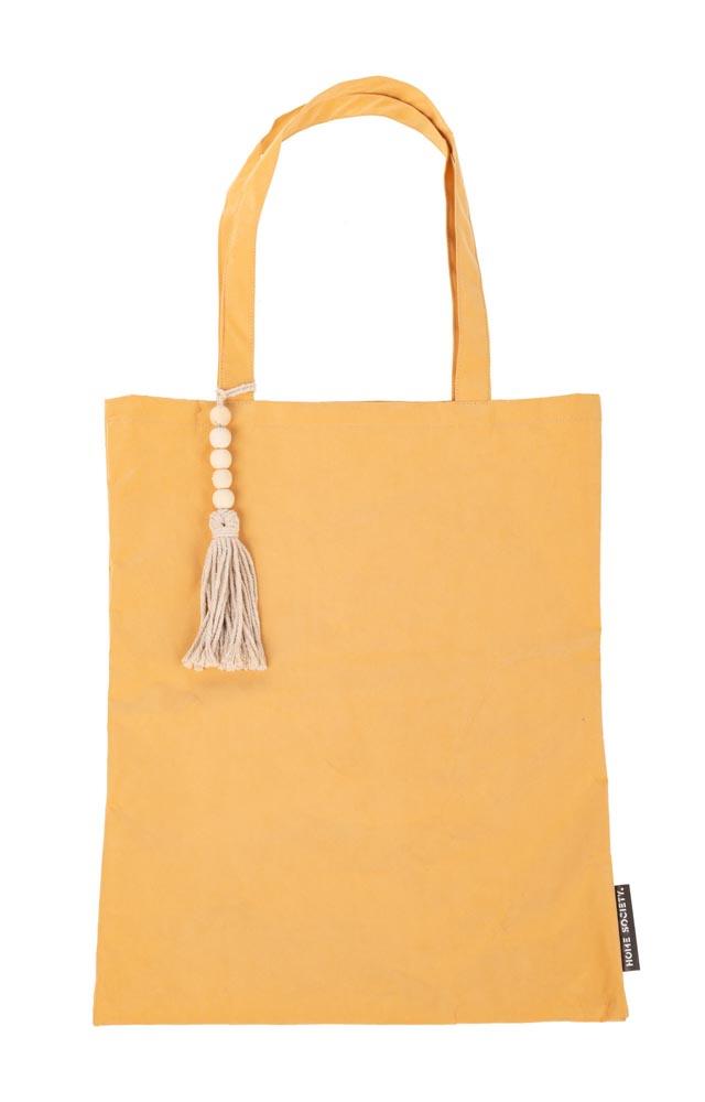 Strandtasche/Schoppingtasche S, Kunststoff in Textiloptik, Farbe Ockagelb, 45x37 cm