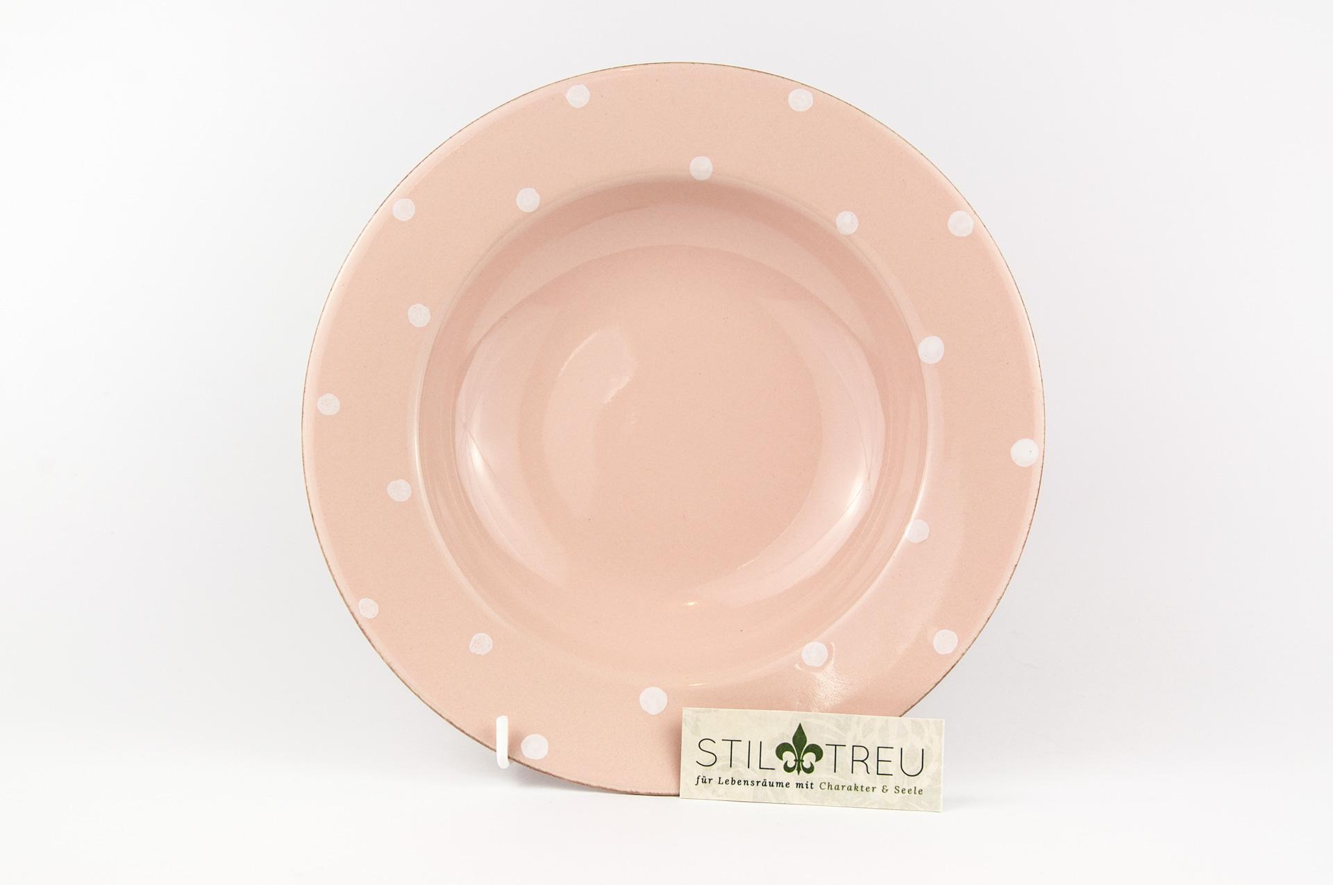 Suppenteller / PastaTeller  Chitra, rosa, 25 cm