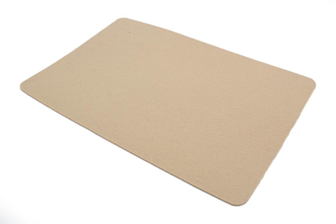 """Tischset """"Rechteck"""", Wollfilz, sand, 30x45x0,3 cm"""