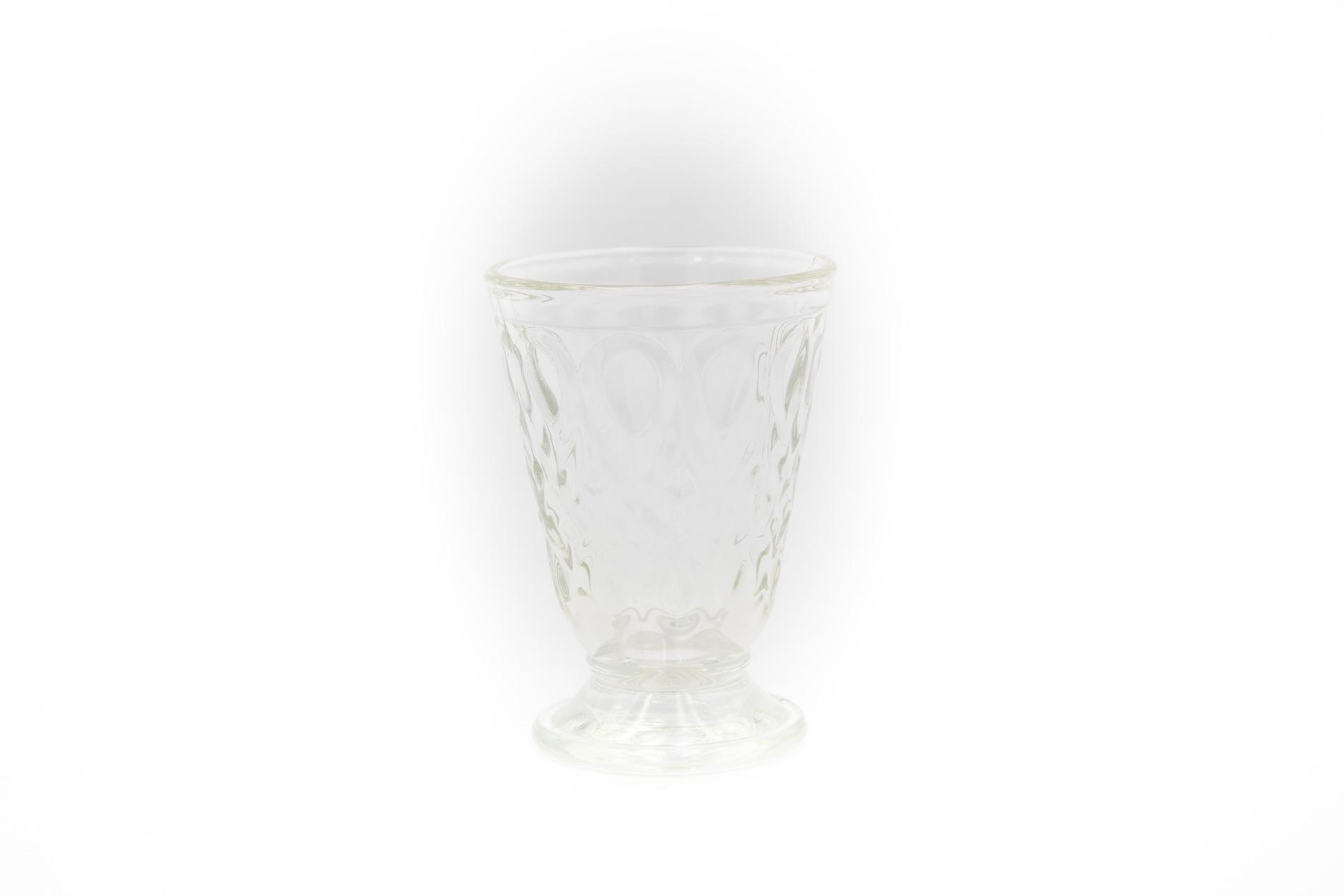 Wasserglas/ Trinkglas,  weiß Lyon, 0,2 l