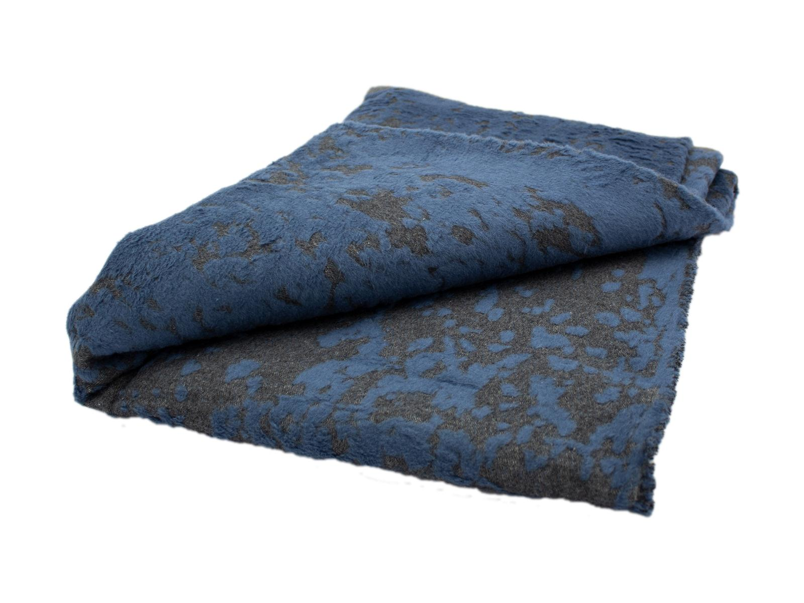 DAVID FUSSENEGGER Decke/Plaid DECO abblätternde Farbe-Optik, blau, 130x200 cm