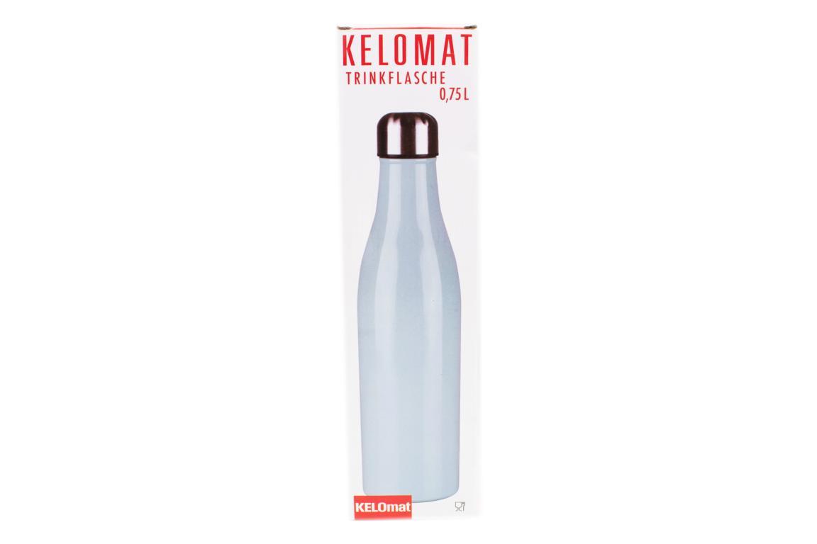 KELOmat Edelstahl Trinkflasche, hellblau, 0,75 Liter