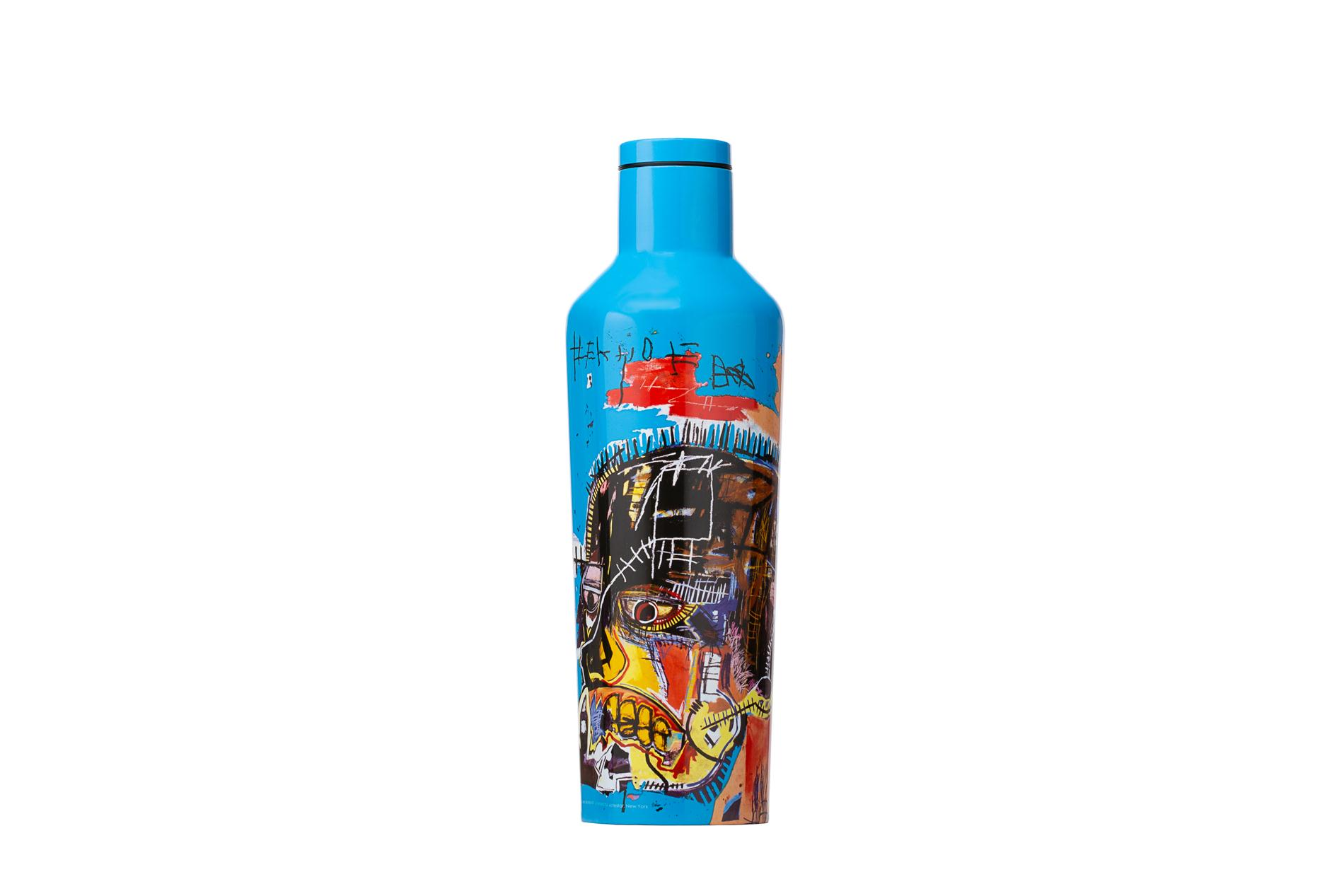 Corkcicle Trinkflasche / Thermo Isolierflasche Untitled Skull 475 ml Basquiat