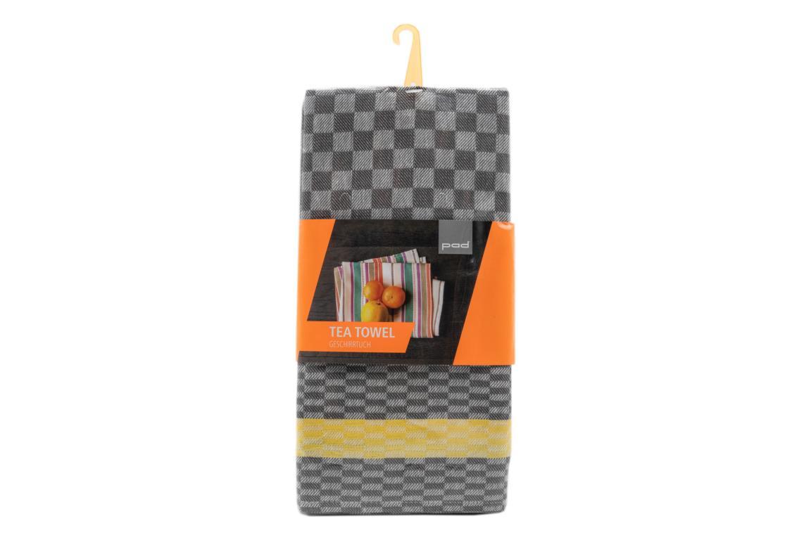 pad Geschirrtuch Pit Reloaded, 2er Pack, grau/gelb, 50x70 cm