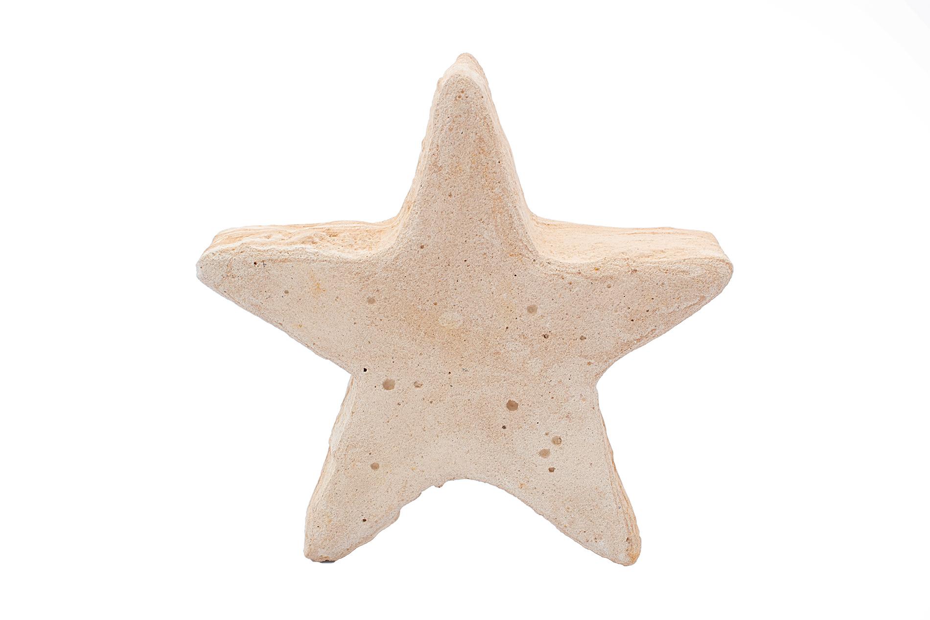 Stern Sandsteinguss, klein, mit Bohrung, 19 x 19 x 6 cm