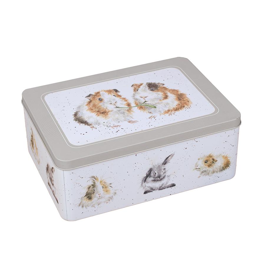 Wrendale Vorratsdose, Motiv Meerschweinchen/Hase, 22x15x8,5