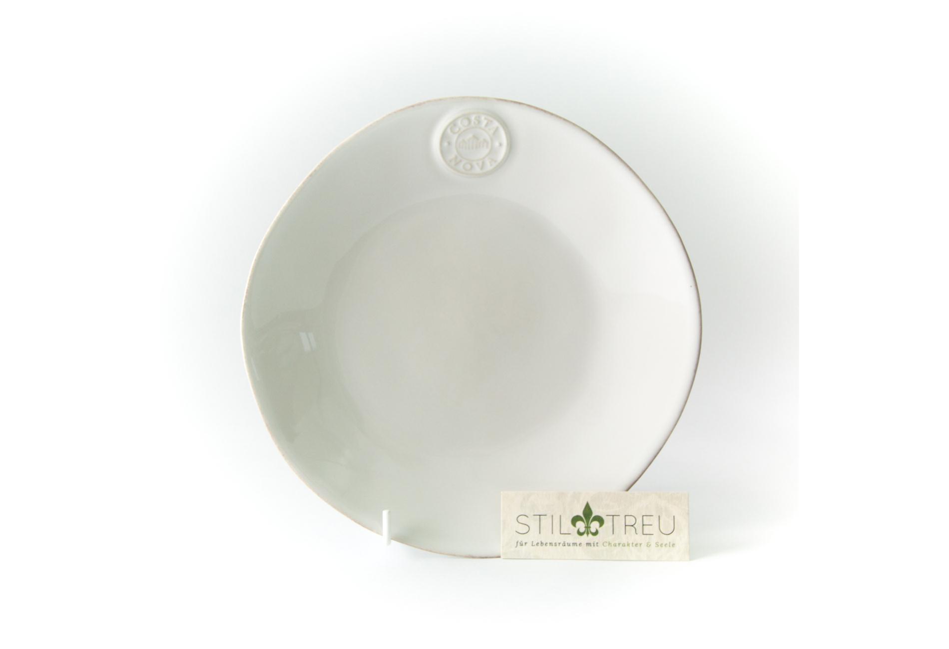 Costa Nova, Kuchenteller / Dessertteller / Salatteller, Nova, weiß, 21 cm