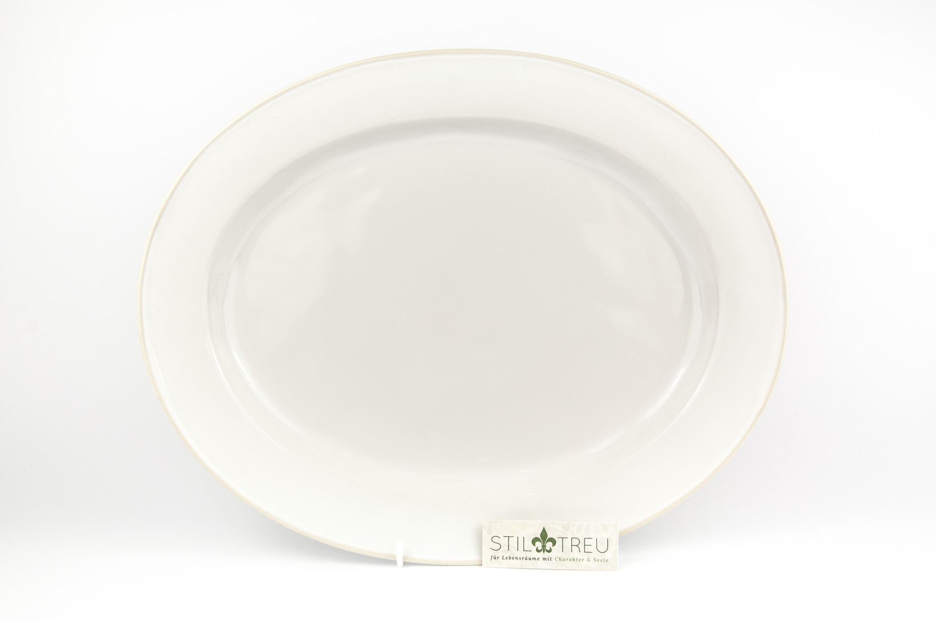 Ovale Platte Astoria, weiß, 40 cm