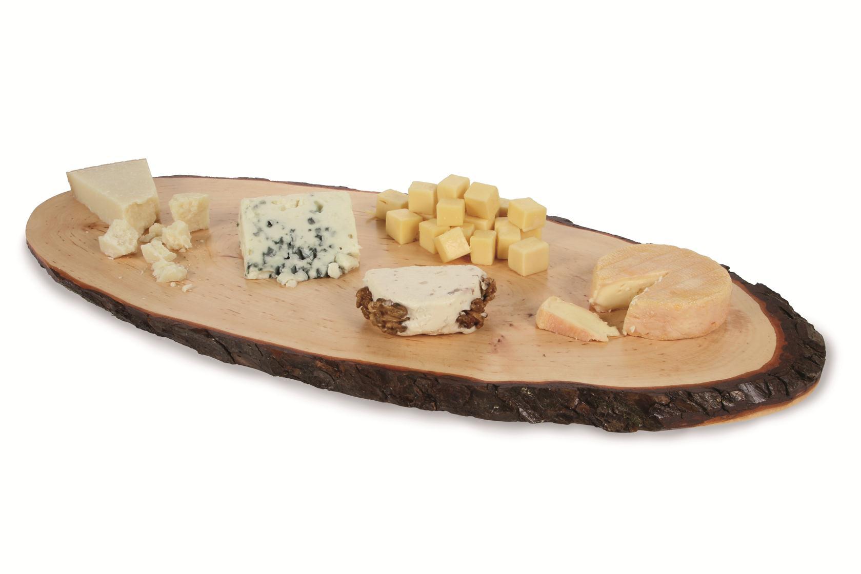 BOSKA, Käsebrett mit Rinde, Esche, ca. 56 - 65 cm