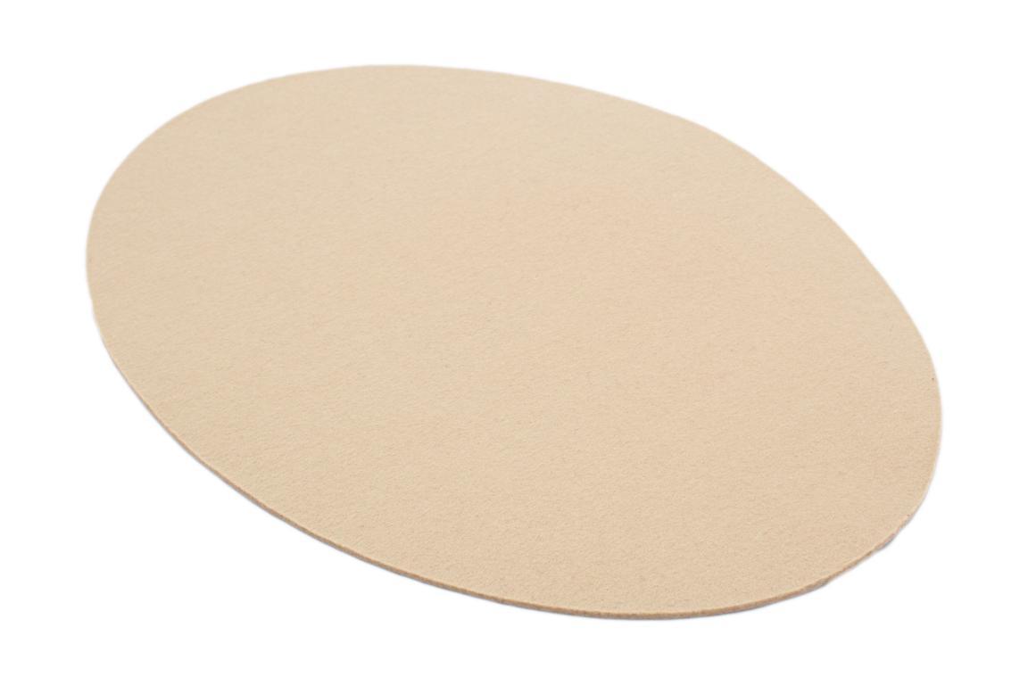 """Tischset """"Ellipse"""", Wollfilz, sand, 33x46x0,3 cm"""