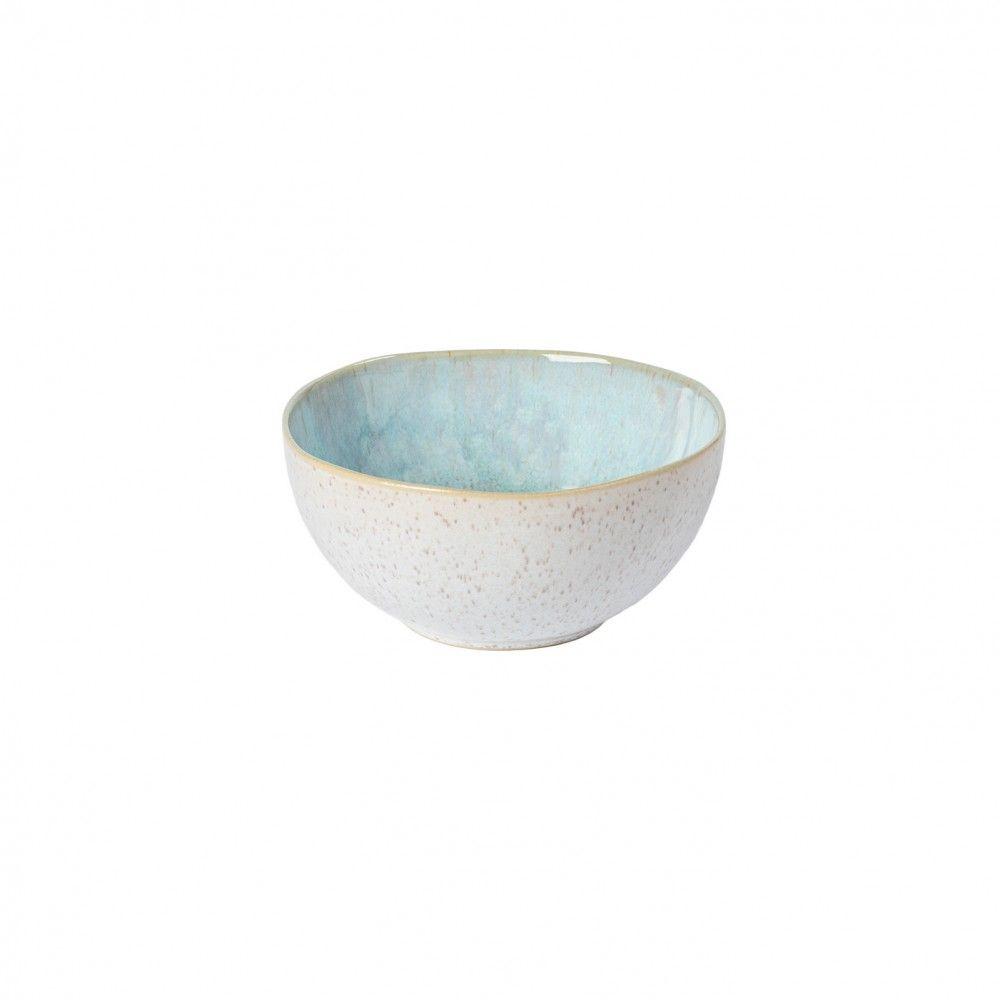 Casafina Eivissa Schale/Müslischale, innen meerblau, außen beige, gesprenkelt, D 16cm, 0,67L