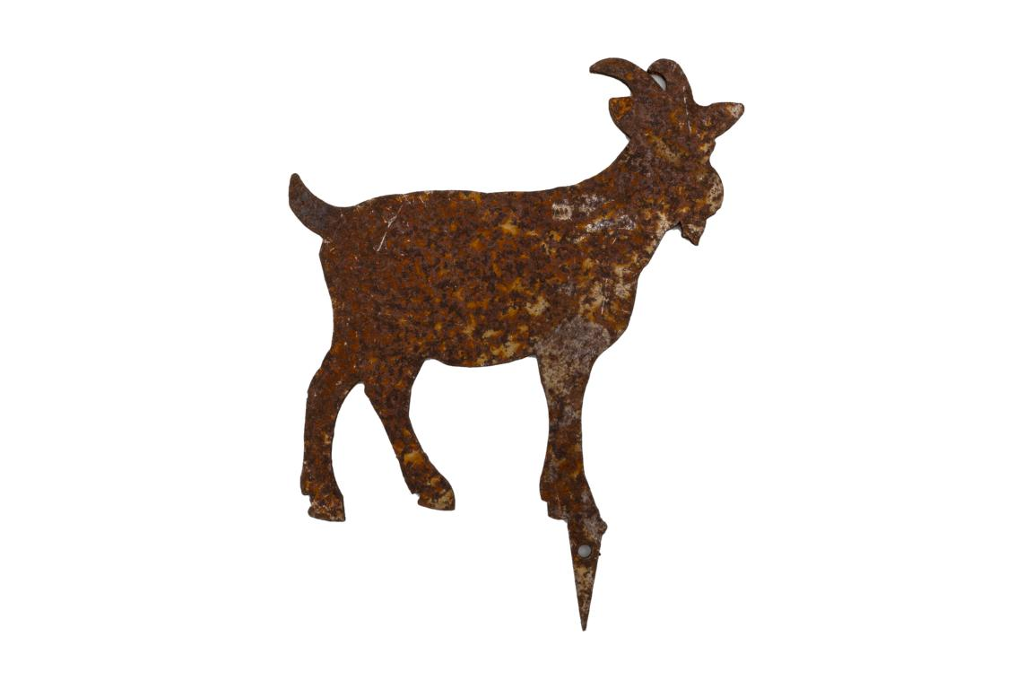 Bauernhoftiere zum Stecken, Ziege, mini, Edelrost, 9x11cm