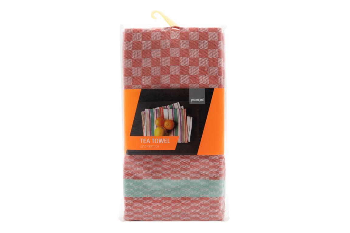 pad Geschirrtuch Pit Reloaded, 2er Pack, apricot/mint, 50x70 cm
